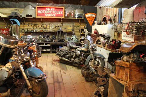 Bike shop, Wheels Through Time Museum